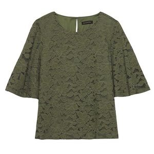 Banana Republic Lace Bell Sleeve Top